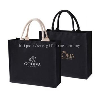 Black Laminated Canvas Bag - ECO 157