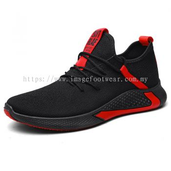 MEN'S LIFESTYLE Running Shoes TL-2 BLACK/RED Colour