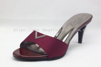 Elegant Lady Fashion Slipper with 2 Inch Heel - TF-1866- PURPLE Colour