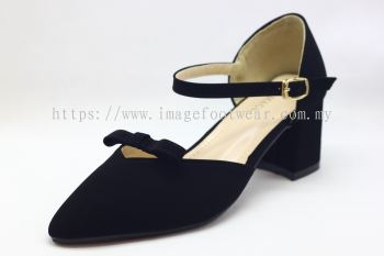 Lady Fashion Pointy Shoe with 2 Inch Heel - TF-752-22- BLACK Colour