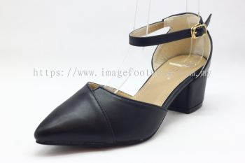 Lady Fashion Pointy Shoe with 2 Inch Heel - TF-406-109-BLACK Colour