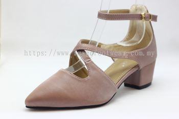Lady Fashion Pointy Shoe with 2 Inch Heel - TF-406-105-PINK Colour