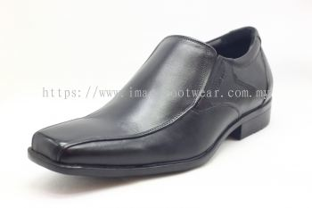 GENWEAR Full Leather Men Shoe- LM1002- BLACK/MAROON Colour