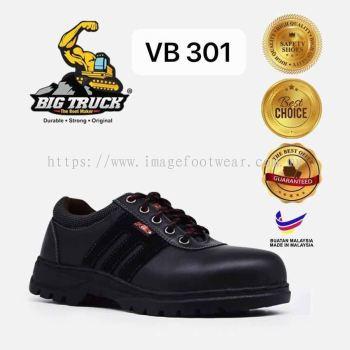 BIG TRUCK Low Cut Lace up Ladies Safety Shoes VB-301 -BLACK Colour