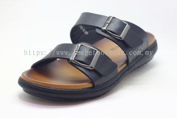 GREEN POINT Men Sandal -GP-81-8856- BLACK Colour