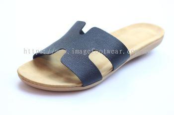 Lady Slipper Flat MURAH EQ21011- BLACK Colour