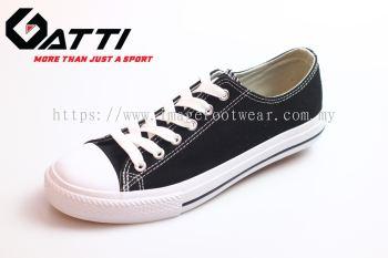 GATTI Men Casual Canvas Sneaker Shoe- GS-188115-01 BLACK Colour