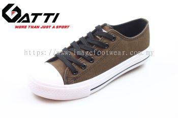GATTI Men Casual Canvas Sneaker Shoe- GS-188115-27 DARK BROWN Colour