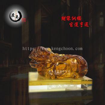黄水晶貔貅QH257