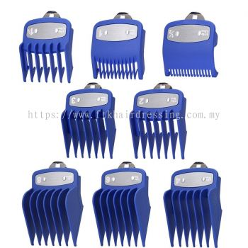 8-pcs Attachment Guides for Wahl Clipper (Blue)