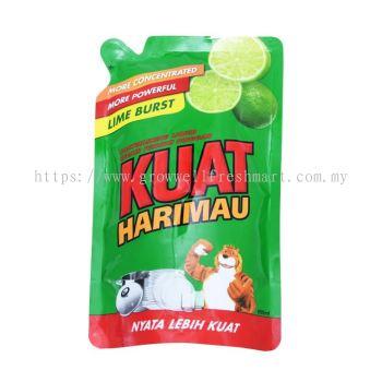 Kuat Harimau Dishwash Liquid Lime Refill 650ml