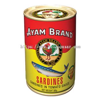 Ayam Brand Sardines in Tomato Sauce - Sardin Dalam Sos Tomato (300 gm)