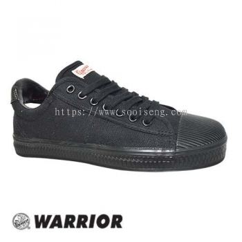 WARRIOR LOW CUT LACE UP SHOE (WB 8-BK) BLACK