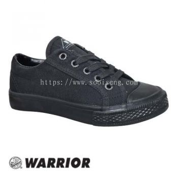 WARRIOR LOW CUT LACE UP SHOE (W 2693-BK) BLACK