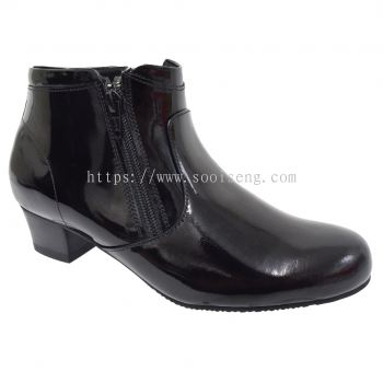 LADIES POLICE BOOT (MM 6448A-BK)