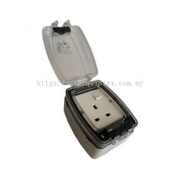 T & G WPS113ATC 13A Wheater Proof Switch Socket C/W Transparent Cover (IP9336S)