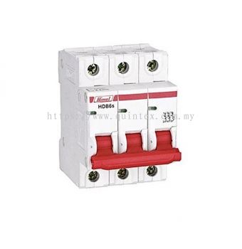HIMEL HDB6s 3P MCB (Miniature Circuit Breaker)