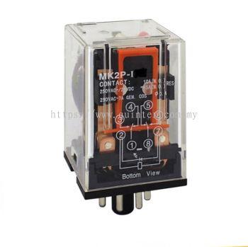 Relay 8pin MK2P-1 MK2P-I MK2P-N 12VDC 24VDC 48VDC 12VAC 24VAC 48VAC 110VAC 220VAC 230VAC 240VAC 415VAC 50Hz