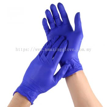 Blue Color Disposable Latex Gloves