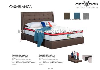 6ft CasaBlanca Divan + 3003 Headboard