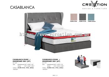 6ft CasaBlanca Divan + 3001 Headboard