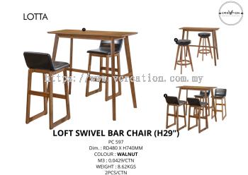 "Loft Swivel Bar Chair (29"")"