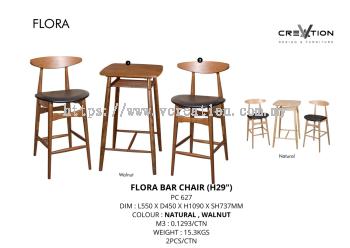 "Flora Bar Chair (H29"")"