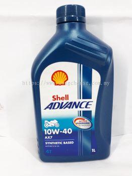 SHELL ADVANCE AX7 10W-40 4T 1L SEMI SYNTHETIC