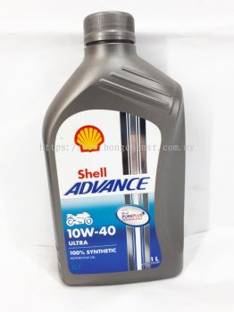 SHELL ADVANCE ULTRA 10W-40 4T 1L FULLY SYNTHETIC