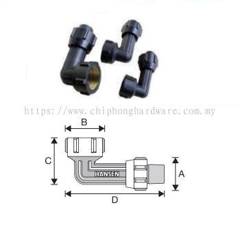 Female Brass Thread Elbow (BSPT Female)