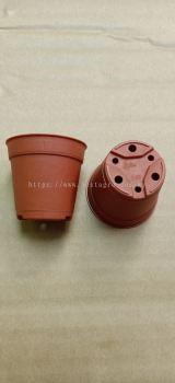 LS5.5 Plastic Flower Pot (Terra Cotta)