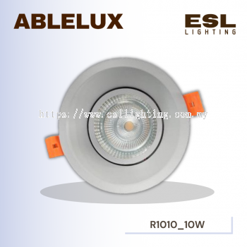 ABLELUX Round Adjustable LED Recessed 10W Spotlight 90 LUMEN POWER FACTOR 0.9 ISOLATED DRIVER