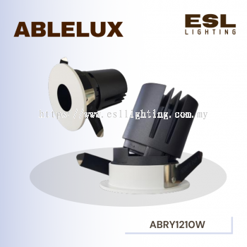 ABLELUX 10W RECESSED ADJUSTABLE SPOT DOWNLIGHT RY12 ISOLATED DRIVER POWER FACTOR 0.5 AC100-240V ROUN