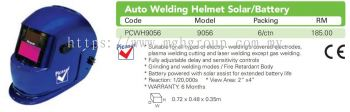 9056 Auto Welding Helmet Solar/Battery