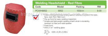 9052 Welding Headshield - Red Fibre
