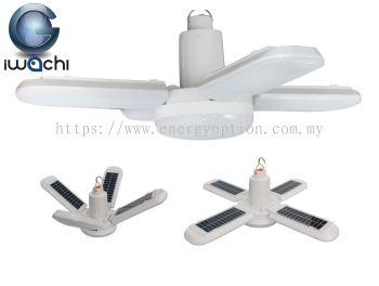 Iwachi 200W LED Fan Blade Solar Light (4+1) Step - 6500K DL+R+B