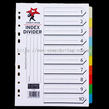 INDEX DIVIDER - 10 COLOUR