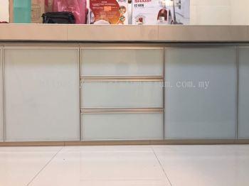cabinet door with composite panel ( light blue)