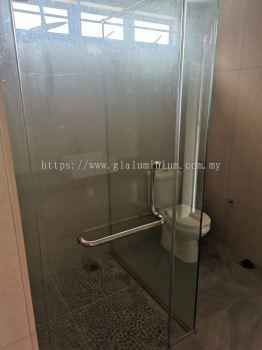 """toilet shower tempered ( 10mm) """" L."""" shape"""
