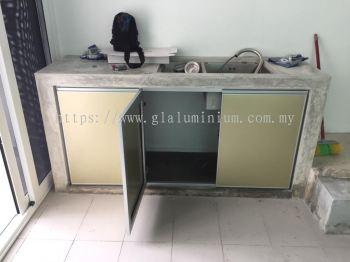 dapur pintu aluminium + composite panel