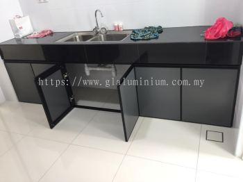 cabinet swing door p/c Black + composite panel grey @jalan Eco the 7/2c, Semenyih, Kajang