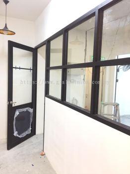 powder coating black + clear glass @SAVANNA LIFESTYLE RETAIL, jalan BBLS 2, BANDAR BARU LEMBAH SELATAN, DENGKIL