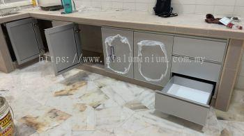 aluminium ( silver) + Aluminium composite panel silver @jalan Persiaran SL 1,sungai Long
