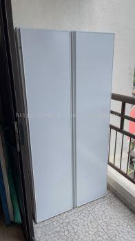 Cabinet swing door (aluminium white +ACP white) @1.4.3 kiara View TTDI