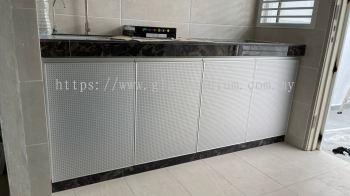Cabinet swing door (ACP pin hole silver) @jalan frekuensi U16/111C, shah Alam