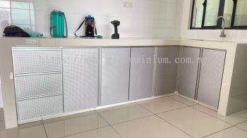 cabinet swing door + drawers ( ACP pin hole) @Lido Residency, jalan Yaacob Latif, Kuala Lumpur