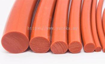 Silicone Rubber Cord Red Oxide