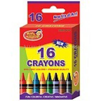 16CT CRAYONS IN PRINTED BOX