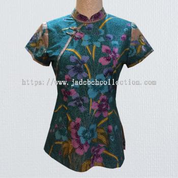 BTK(T)002 Batik Qipao Top