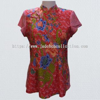 BTK(T)006 Batik Qipao Top
